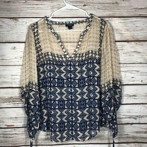 Lucky Brand Sheer Size M Blouse